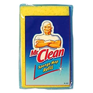 Mr. Clean Sponge Mop with Scrubber Refill Classic Easy Snap On/on (1 Pack)