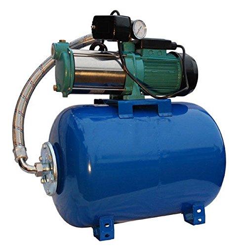 Wasserpumpe 1300W 100l/min 24 l Druckbehälter Gartenpumpe Hauswasserwerk Kreiselpumpe