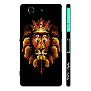 Sony Xperia Z3 Compact 3D Fire Lion designer mobile hard shell case by Enthopia
