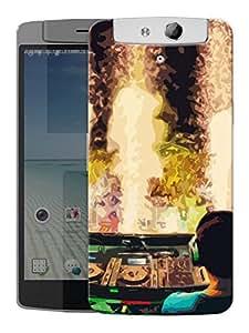 "Humor Gang Armin Love Dj Console Concert Printed Designer Mobile Back Cover For ""Oppo N1"" (3D, Matte, Premium Quality Snap On Case)"