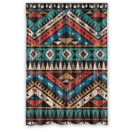 Vintage Aztec Pattern Shower Curtain 66