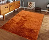 Lovely Rust Orange ~5ft' x 7ft' Hand Tufted shag Rug, Hand Woven On Sale! with FREE RUG INCLUDED