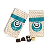 Lily O'Brien's Ultimate Collection Gift Wrap Assorted Collection of Finest Milk Dark and White Chocolate Recipes (Pack of 2, Total 32 Chocolates)