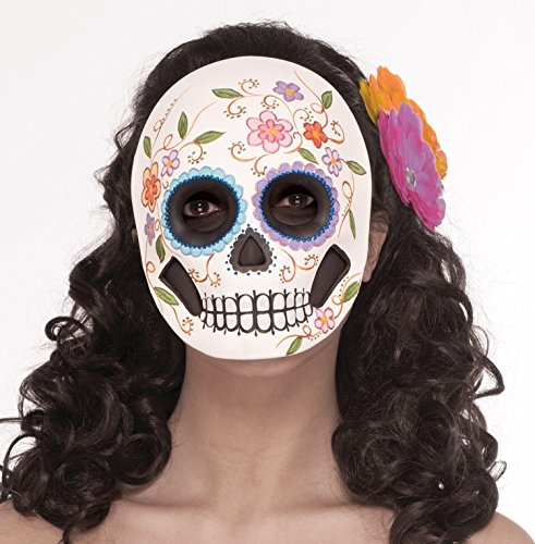 Flowered Female Day Of Dead Full Face Mask 73719