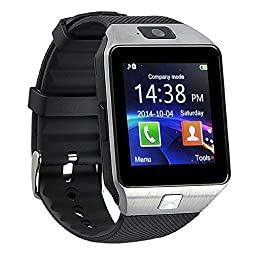 Qiufeng Dz09 Bluetooth Smart Watch SmartWatch with Camera for Iphone and Android Smartphones(Silver)