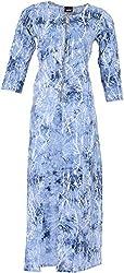 Pahel Creations Women's Synthetic Regular Fit Kurta (Blue, Large)