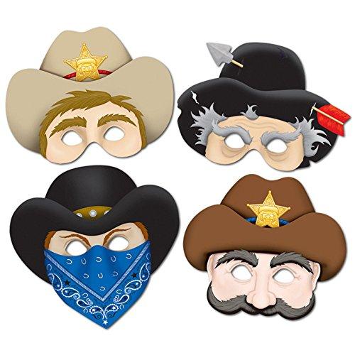 Western Masks (4/Pkg)