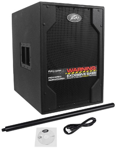 "Peavey Pvxp Sub 15"" 850 Watt Powered Dj/Pa Live Subwoofer With Fully Adjustable Kosmos C For Increased Bass Impact, And Forced Air Cooling"