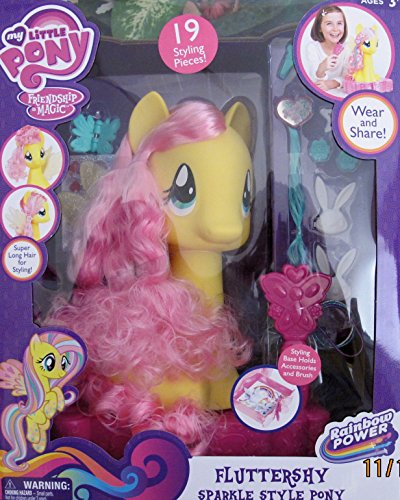 MY LITTLE PONY Friendship is Magic FLUTTERSHY SPARKLE STYLE PONY w Super LONG HAIR (2014) (Monster High Dolls Rebecca Steam compare prices)