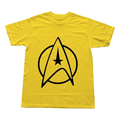 Hoxsin Yellow Men'S Starfleet Insignia Cool Casual T Shirts Us Size Xs