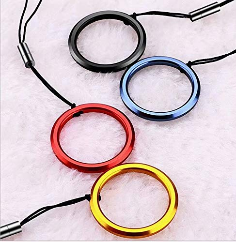 A Set of 4 Colors Cell Phone Cord Strap with Metal Finger Ring on (Color: CC02)