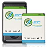 EC TECHNOLOGY® High Quality 1900mAh Li-ion Batteries For Samsung Galaxy S II S2 GT-I9100, Galaxy S2 II I9100 Only For I9100, NOT Compatible With AT&T Galaxy S2 II(SGH-I727), NOT Compatible With Sprint Galaxy S2 II D710(Galaxy S II Epic Touch 4G), NOT Compatible With T-moblie Galaxy S2 II(SGH-T989), 1 x Travel Charger