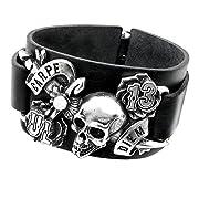 Carpe Diem Wriststrap Mens Alchemy Gothic Bracelet
