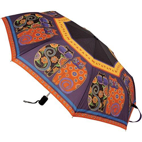 laurel-burch-compact-umbrella-42-inch-canopy-auto-open-close-feline-family-portrait