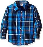Gymboree Boys Red Poplin Shirt, Blue Plaid, 18-24