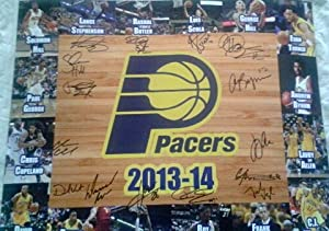 Indiana Pacers 2013-14 Team Autographed 16x20 Photo