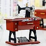 WHH Caja de música de plástico caja de música de máquina de coser modelo creativo parejas regalos de Navidad