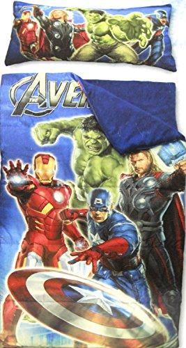 Marvel Comics Avengers Sleeping Bag with Pillow Sleepover Slumber Set