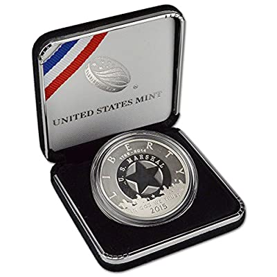 2015 P US Commemorative Proof Silver Dollar Marshals Service 225th Anniversary $1 OGP US Mint