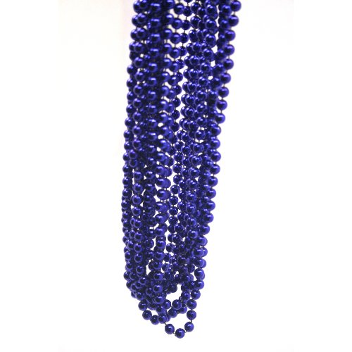 Blue Metallic Beads : package of 12