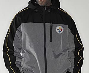 Buy NFL Pittsburgh STEELERS Half Time Full-Zip Windbreaker Jacket ~ Large by G-III Sports