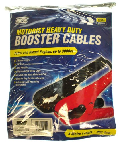 Maypole MP351 10mm x 3m Heavy Duty Booster Cables