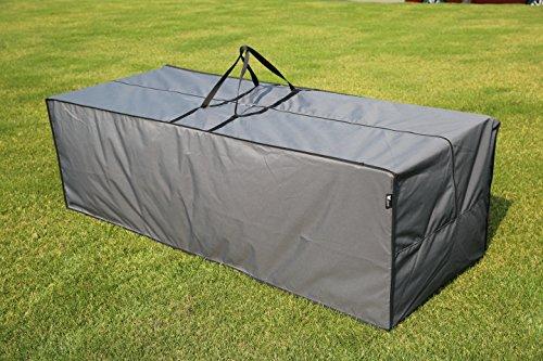 Aufbewahrungstasche-Cover-fr-Loungekissen-Grau-200-x-75-x-60-cm-L-x-B-x-H-SORARA-Semi-Waterproof-Polyester-PU-Coating-UV-50-fr-Outdoor-Garten-Mbel