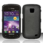 CARBON FIBER Design Hard Plastic Matte Case for Samsung Illusion i110 / Galaxy Proclaim [In Twisted Tech Retail Packaging]