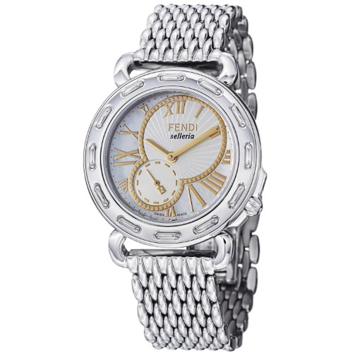 Fendi Women's F81234HBR8153 Selleria Polished Stainless Steel Bracelet Watch