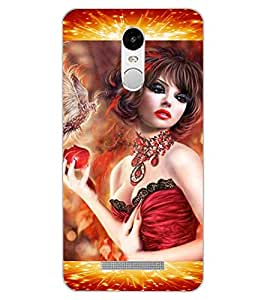 ColourCraft Beautiful Girl Design Back Case Cover for XIAOMI REDMI NOTE 3