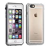 Eonfine-正規品 iPhone 6 plus / 6s plus 用 防水ケース 5.5インチ フルプロテクションカバー 透明ケース クリア 薄 防水 防雪 防塵 耐衝撃 落下防止 IP68 指紋認証対応 アイフォンケース ホワイト