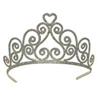 Glittered Tiara (silver) Party Access…