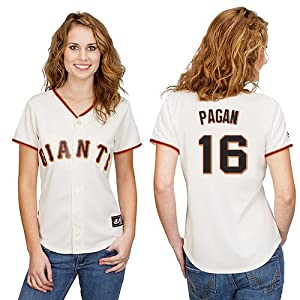 Angel Pagan San Francisco Giants Home Ladies Replica Jersey by Majestic Select Ladies... by majestic