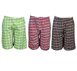 Spictex Boys' Cotton Shorts (Pack Of 3) (SPIC-CT142-PC3-09_Multicolor_8 Years - 9 Years)