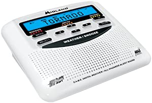 Midland WR-120B NOAA Weather Alert All Hazard Public Alert Certified Radio with SAME, Trilingual Display and Alarm Clock - Box Packaging