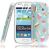 JAMMYLIZARD | Zuckersüße Cupcakes Back Cover Hülle für Samsung Galaxy S3 Mini, SCHOKO-MINT