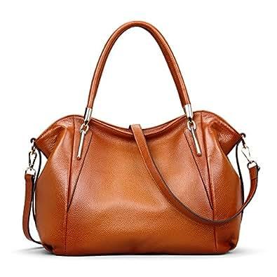 Kattee Women's Vintage Genuine Leather Hobo Tote Shoulder ...