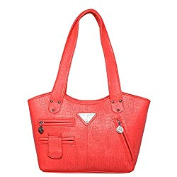 Mooi-Zak Women's Shoulder Handbags Red (Flp2pkt)