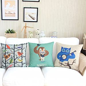 "Yamimi ghost Linen Cloth Pillow Cover Cushion Case 18""£¬Q4014 by Yamimi"