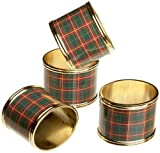 Lenox Nouveau Plaid Napkin Rings, Set of 4