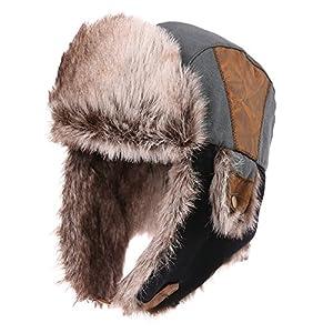 (シッギ)Siggi おしゃれ アウトドア スキー 耳あて付き 防寒帽子 飛行帽 パイロットキャップ
