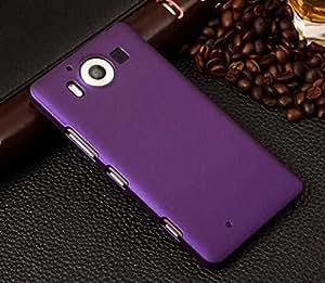 CZap Tough Case Hard Matte Rubberized Back Cover for Lumia 950 - Purple