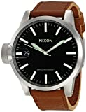 Nixon Chronicle Watch - Men's Black/Saddle, One Size