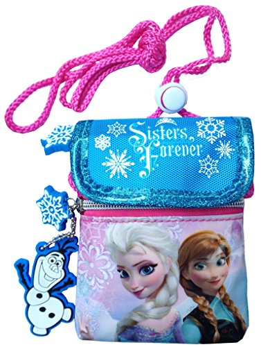 Disney Frozen Princess Elsa and Anna Neck Wallet Pouch Mini Sling Bag for Kids