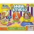Kids Dough Modelling Play set Dough Tubs Hair Studio Childrens Toy - Gift Idea 3+