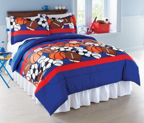 Collections Etc Sports Themed Bedroom Comforter Set front-1027179