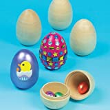 Wooden 2 Part Eggs (Pack of 4)