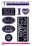 Phi Delta Epsilon Sticker Sheet - Bohemian Theme. 8.5