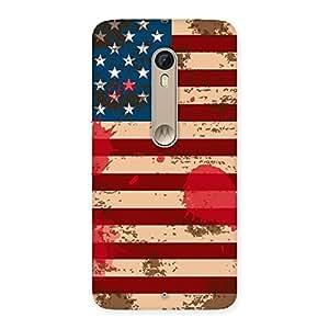 Ajay Enterprises Grunge USA Flag Prints Back Case Cover for Motorola Moto X Style