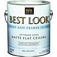 - HW36W0840-16 Best Look Latex Flat Brilliant White Paint And Primer In One Ceiling Paint